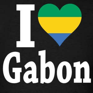 I Love Gabon Flag T-Shirt - Men's T-Shirt