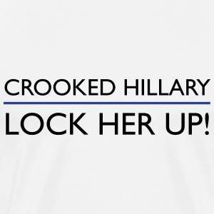 Crooked Hillary Lock Her Up - Men's Premium T-Shirt