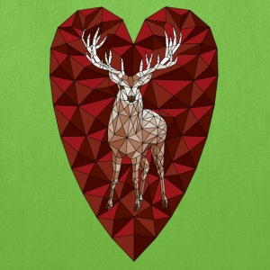 Geometric Deer Heart  Bags & backpacks - Tote Bag