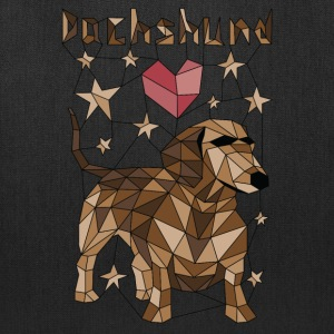 Geometric Dachshund Bags & backpacks - Tote Bag