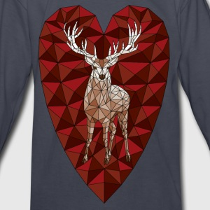 Geometric Deer Heart  Kids' Shirts - Kids' Long Sleeve T-Shirt