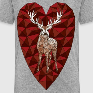 Geometric Deer Heart  Baby & Toddler Shirts - Toddler Premium T-Shirt