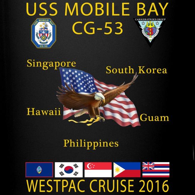 USS MOBILE BAY (CG-53) 2016 WESTPAC CRUISE MUG