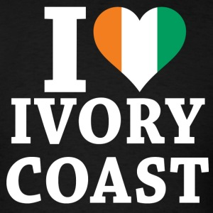 I Love Ivory Coast Flag t-shirt - Men's T-Shirt