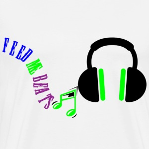 Feed Me Beats Headphones logo - Men's Premium T-Shirt