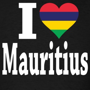 I Love Mauritius Flag T-Shirt - Men's T-Shirt