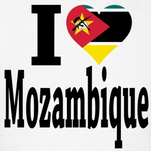 I Love Mozambique Flag T-Shirt - Men's T-Shirt