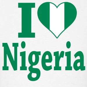 I Love Nigeria Flag t-shirt - Men's T-Shirt