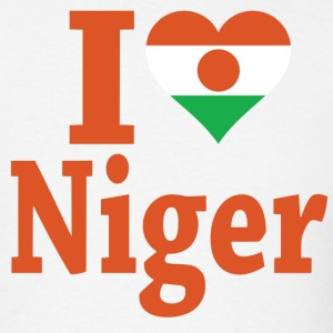 I Love Niger Flag T-Shirt - Men's T-Shirt