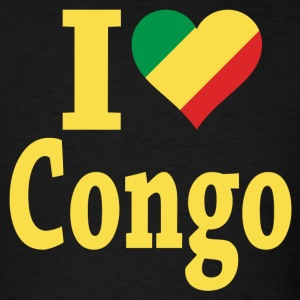 I Love Congo Flag t-shirt - Men's T-Shirt