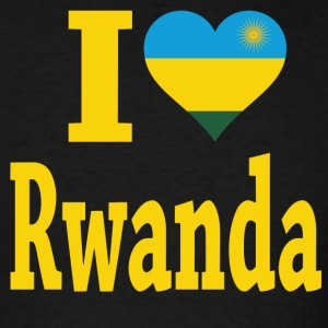 I Love Rwanda Flag T-Shirt - Men's T-Shirt