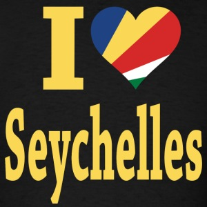 I Love Seychelles Flag - Men's T-Shirt