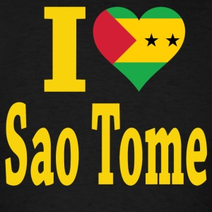 I Love Sao Tome Flag T-Shirt - Men's T-Shirt