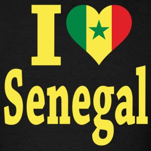 I Love Senegal Flag T-Shirt - Men's T-Shirt