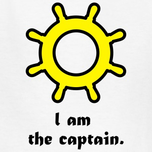 I am the captain. Kids' Shirts - Kids' T-Shirt