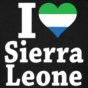 I Love Sierra Leone Flag T-Shirt - Men's T-Shirt