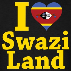 I Love Swaziland Flag t-shirt - Men's T-Shirt