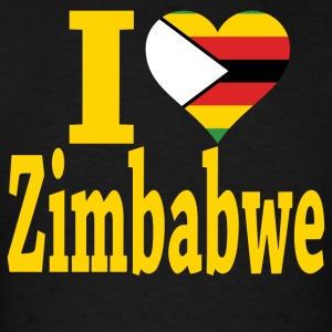 I Love Zimbabwe Flag T-Shirt - Men's T-Shirt