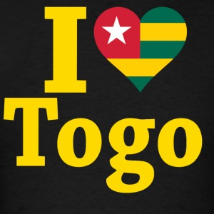 I Love Togo Flag T-Shirt - Men's T-Shirt