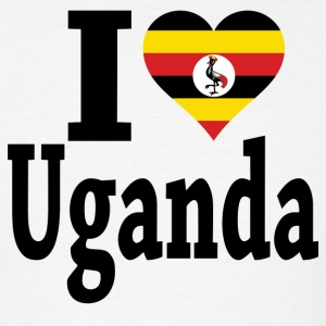 I Love Uganda Flag T-Shirt - Men's T-Shirt
