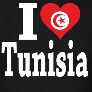 I Love Tunisia Flag T-Shirt - Men's T-Shirt