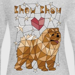 Geometric Chow Chow Long Sleeve Shirts - Women's Long Sleeve Jersey T-Shirt