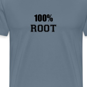 100% root T-Shirts - Men's Premium T-Shirt