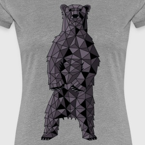 Geometric Black Bear T-Shirts - Women's Premium T-Shirt