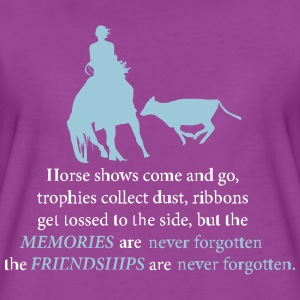 Cutting - HorseShow T-Shirts - Women's Premium T-Shirt