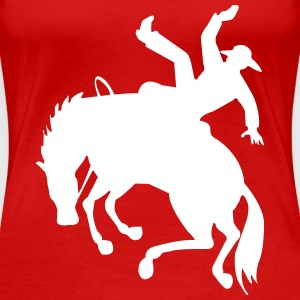 Bronc Rider on Bucking Horse T-Shirts - Women's Premium T-Shirt