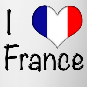 I Love France Mug - Contrast Coffee Mug
