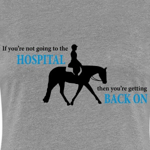 Stock Horse Ridden English with Quote T-Shirts - Women's Premium T-Shirt