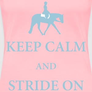 Quarter Horse: Hunter Under Saddle Silhouette  T-Shirts - Women's Premium T-Shirt