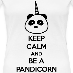 KEEP CALM BE A PANDICORN - funny T-Shirts - Women's Premium T-Shirt