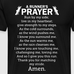 Runner's Prayer Shirt - Men's Premium T-Shirt