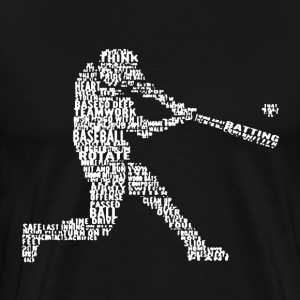 Baseball Word Art Shirt - Men's Premium T-Shirt