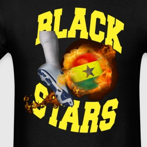 Ghana Black Stars Soccer Ball On Fire t-shirt - Men's T-Shirt