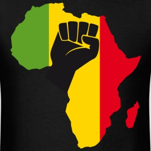 Africa Black Power with Africa Map Fist t-shirt - Men's T-Shirt