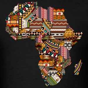 Africa Map with African Pattern T-Shirt - Men's T-Shirt