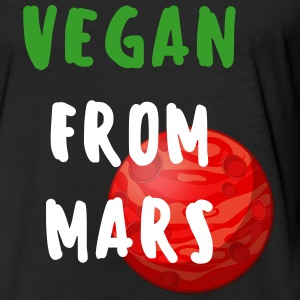 Vegan From Mars Premium Fitted Cotton Tee (Mens) - Fitted Cotton/Poly T-Shirt by Next Level