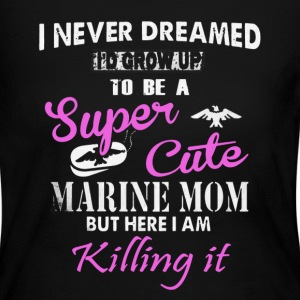 Super Cute Marine Mom - Women's Long Sleeve Jersey T-Shirt