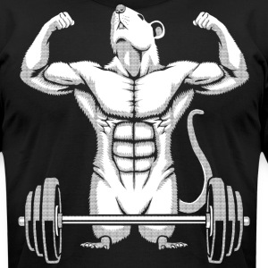 Gym Rat T-Shirts - Men's T-Shirt by American Apparel