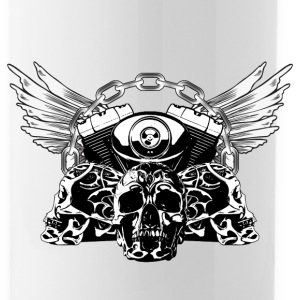 Tribal Skulls Biker Design 5 Sportswear - Water Bottle