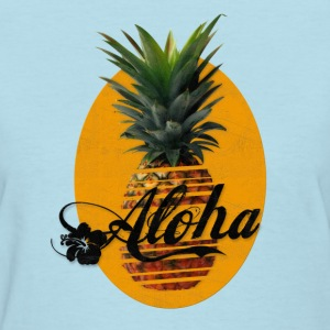 Pineapple Aloha Hawaii Usedlook T-Shirts - Women's T-Shirt
