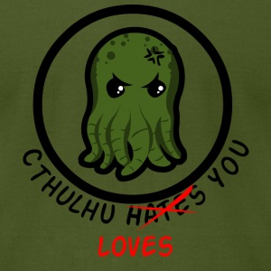 Cthulhu Loves You - Men's T-Shirt by American Apparel