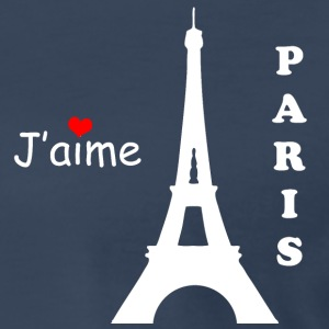 J'aime Paris Eiffel Tower White Text T-Shirts - Men's Premium T-Shirt