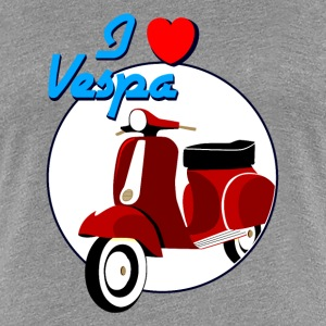 Vintage Red Scooter Women's T_shirt - Women's Premium T-Shirt