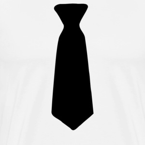 Neck Tie Black - Men's Premium T-Shirt