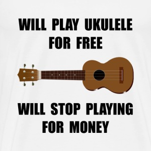 Ukulele Playing - Men's Premium T-Shirt