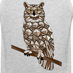 Geometric Great Horned Owl  Sportswear - Men's Premium Tank